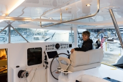 Marina at the helm
