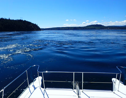 Tidal currents near Seymour Narrows