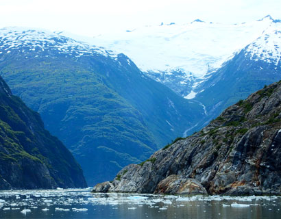 The fjords at Tracy Arm