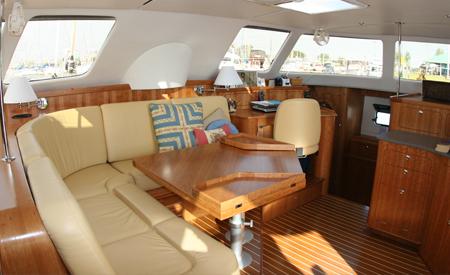 Gabridash catamaran spacious salon