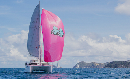Two Fish Antares catamaran sailing