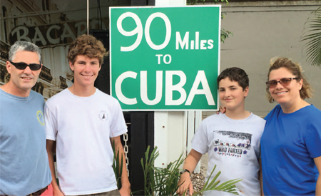 Jim and family in Key West before leaving for Cuba
