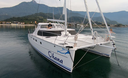 Antares 44i Catamaran Ohana anchored