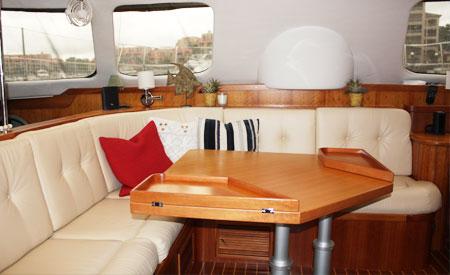Sabbatique catamaran spacious salon