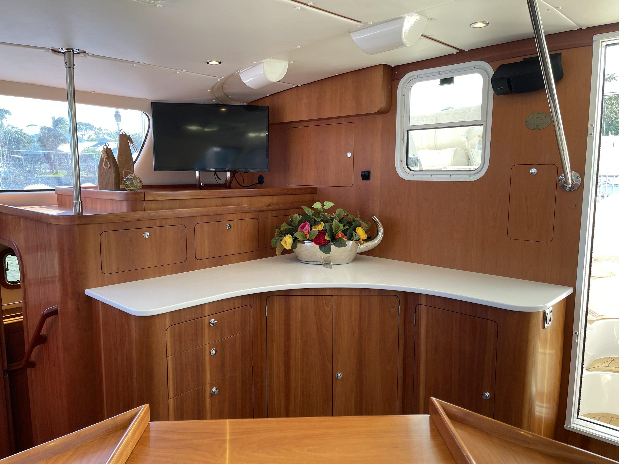 Idlewild catamaran spacious galley