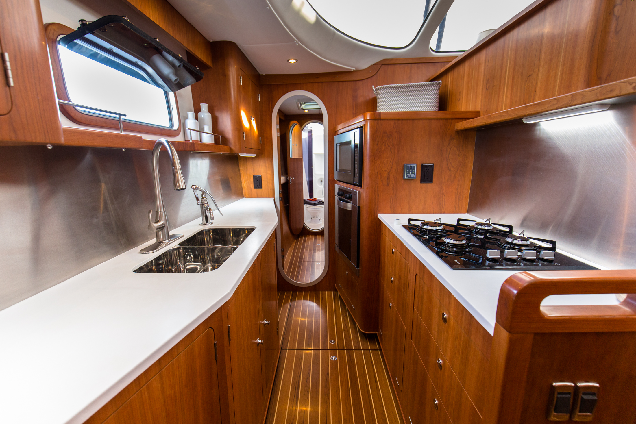 Yes, we have a galley down but we prefer to say galley BIG