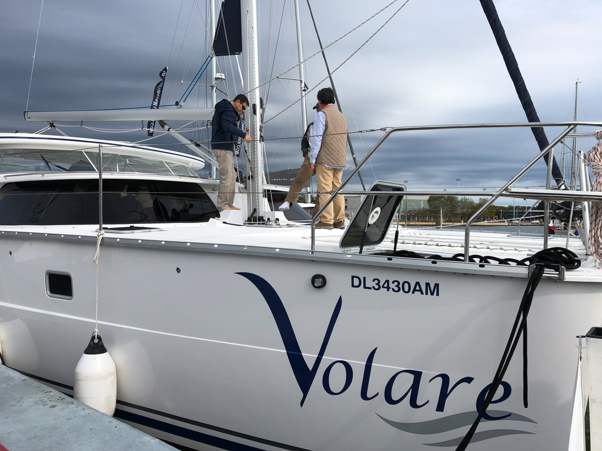 Showing off Volare at the show