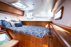 The equally luxurious aft guest cabin