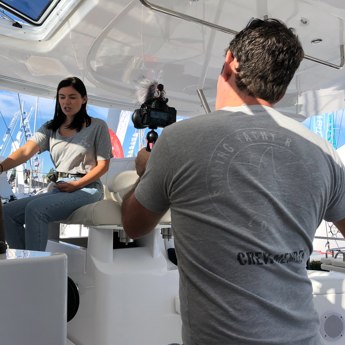 Behind the scenes with Nick and Terysa from Yacht Ruby Rose
