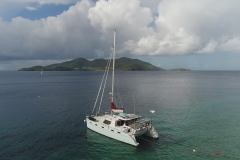 Blue Sailing Catamaran